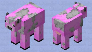 The (very bright) pink cow Minecraft Mob Skin