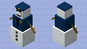 Police Officer Sergeant Snow Minecraft Mob Skin
