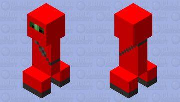 Red Ninja Suit Creeper Minecraft Mob Skin