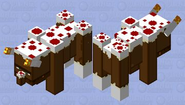 the cake beast#cakeager!#ravenger+cake  FYI the horns are candle Minecraft Mob Skin