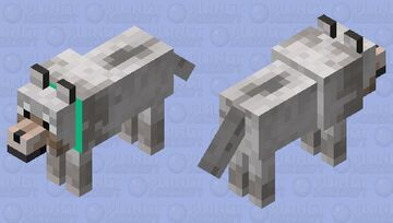 Normal Wolf Minecraft Mob Skin