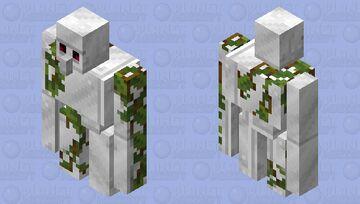 """Copper like Iron"" Iron Golem with Vines Minecraft Mob Skin"