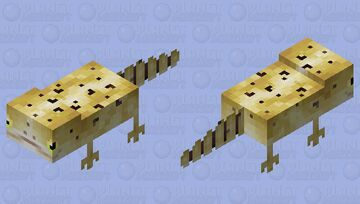 Leopard gecko Minecraft Mob Skin