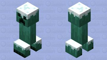 The Ice Creeper (From Snowy Tundra, Ice Spike, And IceBerg) (Remade) Minecraft Mob Skin