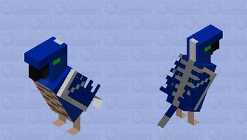 Phantom Parrot Minecraft Mob Skin