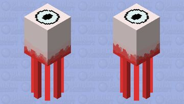 Spooky eyeball squid Minecraft Mob Skin