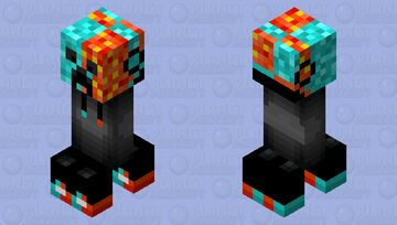 cool fire/water creeper Minecraft Mob Skin