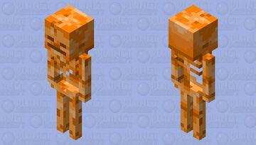 The Bees: Honey Skeleton Minecraft Mob Skin