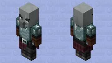Ravager Rider Rillager / no level ( for now ) / Remade Re-texturing Minecraft Mob Skin