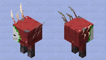 ZOMBIFIED STRIDER Minecraft Mob Skin