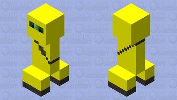 Yellow Ninja Suit Creeper Minecraft Mob Skin