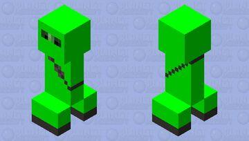 Green Ninja Suit Creeper Minecraft Mob Skin