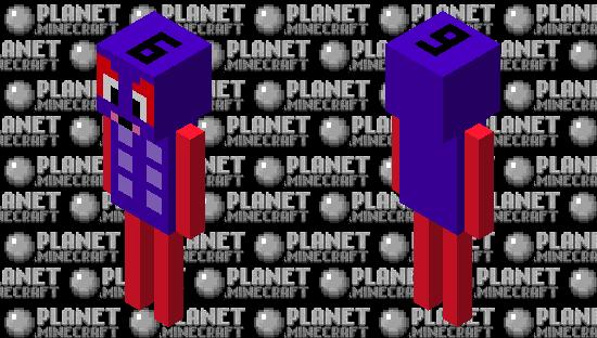 NumberBlocks 6 Minecraft Skin