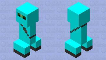 Cyan Ninja Suit Creeper Minecraft Mob Skin