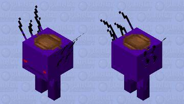 Suffocated Saddled Void Strider Minecraft Mob Skin