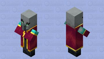 The Enchanter Illager (Retexture) (With Hat) (ver.2) Minecraft Mob Skin
