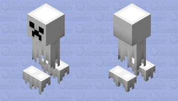 Hallow-Sinister: Ghost Creeper Minecraft Mob Skin