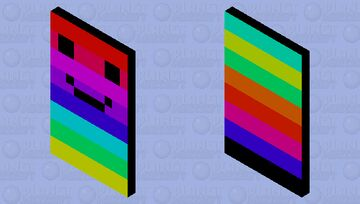 Smile Rainbow Minecraft Mob Skin