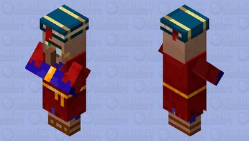 Enchanter Merchant (From the Minecraft Dungeons game files) Minecraft Mob Skin