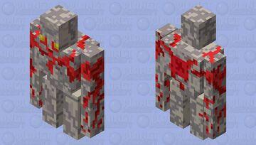 Minecraft Dungeons:Redstone Golem Minecraft Mob Skin