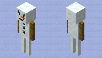 Snowman Stray Minecraft Mob Skin
