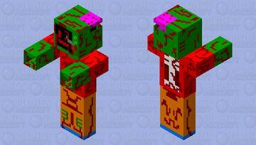 Zombie Old TV Minecraft Mob Skin