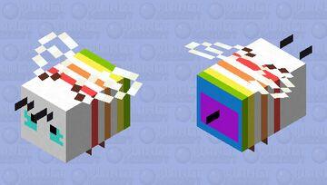 rain BOW bee Minecraft Mob Skin