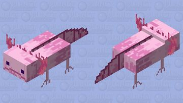 Refract [Dead texture pack] Axolotl Minecraft Mob Skin