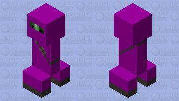 Purple Ninja Suit Creeper Minecraft Mob Skin