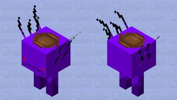 Saddled Void Strider Minecraft Mob Skin