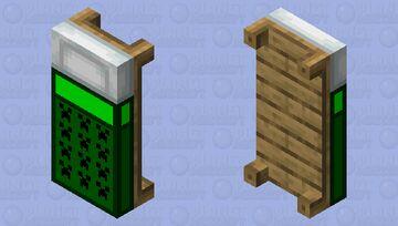 Creeper Pattern bed Minecraft Mob Skin