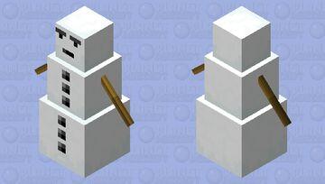Smooth Snow Golem Minecraft Mob Skin