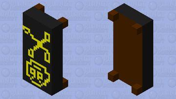 yellow skull bed Minecraft Mob Skin