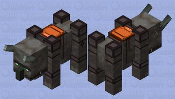 Player tamed ravager (Netherite armor) Minecraft Mob Skin