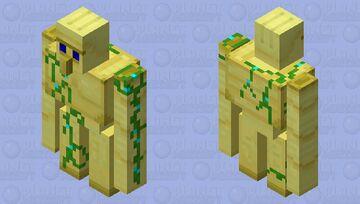 Gold Golem Minecraft Mob Skin