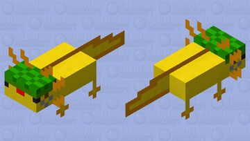 dancing axolotl from youtube Minecraft Mob Skin