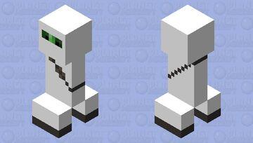 White Ninja Suit Creeper Minecraft Mob Skin