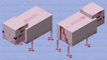 Pixolotl Minecraft Mob Skin