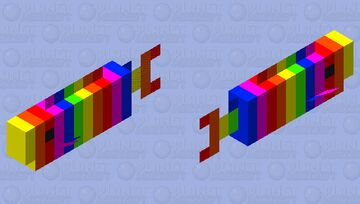 Oh my cod its rainbow Minecraft Mob Skin