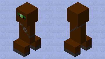 Brown Ninja Suit Creeper Minecraft Mob Skin