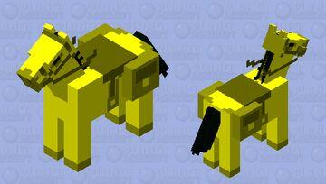 Golden Zombie Horse Minecraft Mob Skin