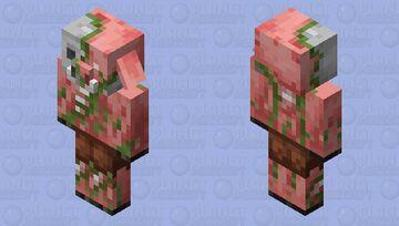Zombiefied Piglin Minecraft Mob Skin