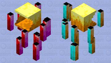 Pac-Man Themed Blaze Minecraft Mob Skin