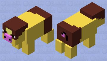 Shiny Tepig(Normal is updated to look like this but with the same colors it had before it got updated) Minecraft Mob Skin