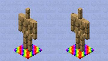 Rainbow armour stand base Minecraft Mob Skin