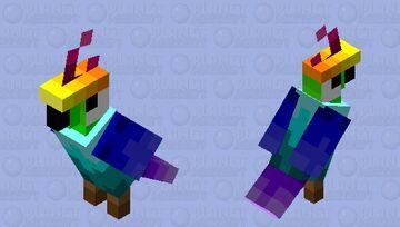 Rainbow parrot Minecraft Mob Skin