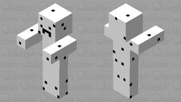 Mutated white blob Minecraft Mob Skin