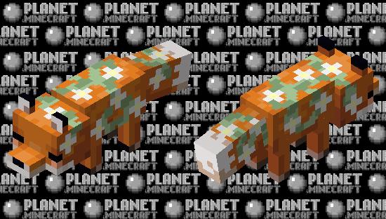 White flower fox Minecraft Skin
