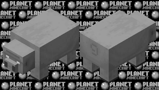 Big Pig / white eyes version / gray / remade Minecraft Skin