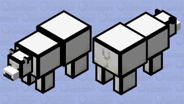 cartoon polar bear Minecraft Mob Skin
